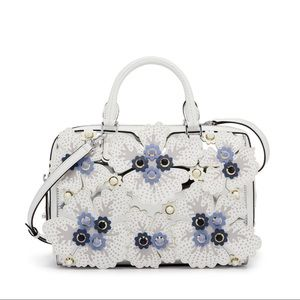 Henry Bendel West 57th Floral Appliqué Satchel